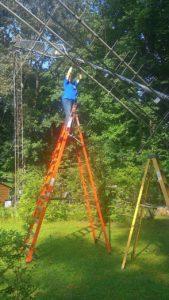 Tower antenna work