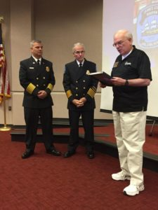Letter of Appreciation for JCC Bruton Volunteer Fire Department